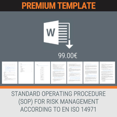 PREMIUM TEMPLATE STANDARD OPERATING PROCEDURE SOP FOR RISK MANAGEMENT ACCORDING TO EN ISO14971